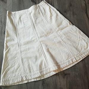 Banana Republic pink seersucker skirt